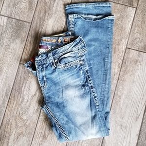 Women's Rock Revival Donna Jeans Size 31x37 Tall